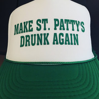 Donald Trump Style St Patty's Day Trucker hat Saint Patricks Day