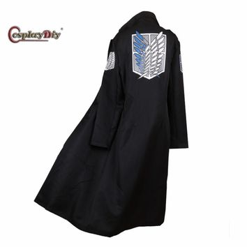 Cool Attack on Titan Cosplaydiy Anime  Levi Rivaille Jacket Cloak Adult Halloween Carnival Cosplay Costume J5 AT_90_11