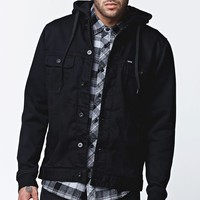 Matix Union Trucker Black Jacket - Mens Jacket - Black