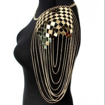 Punk Shoulder Chain Necklace