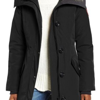 Canada Goose Rossclair Genuine Coyote Fur Trim Down Parka | Nordstrom