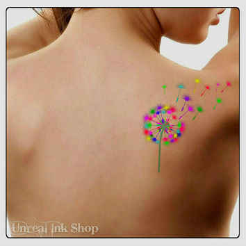 Temporary Tattoo Dandelion Waterproof Ultra Thin Realistic Fake Tattoos