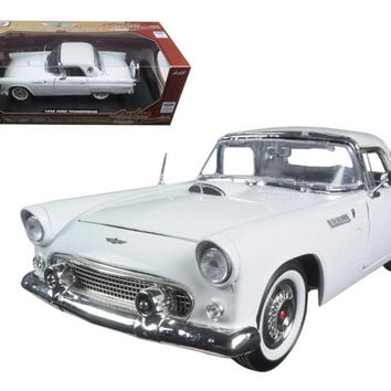 "1956 Ford Thunderbird White ""Timeless Classics"" 1-18 Diecast Model Car by Motormax"