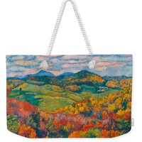 Rocky Knob In Fall Weekender Tote Bag for Sale by Kendall Kessler