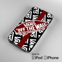 White Vans Off the Wall A0459 iPhone 4S 5S 5C 6 6Plus, iPod 4 5, LG G2 G3, Sony Z2 Case