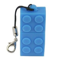 HDE® 4GB Building Block Flash Drive, Blue
