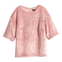 Faux Fur Top - from H&M