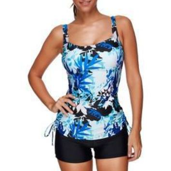 Multicolored Floral 2 Piece Plus Size Bathing Suits