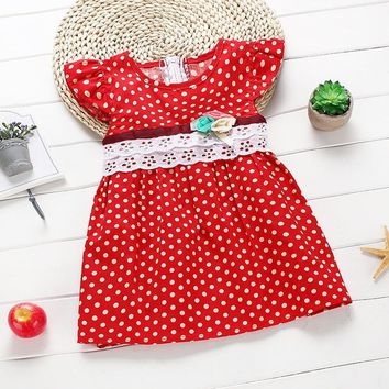Lace Polka Dot Dress for Toddlers