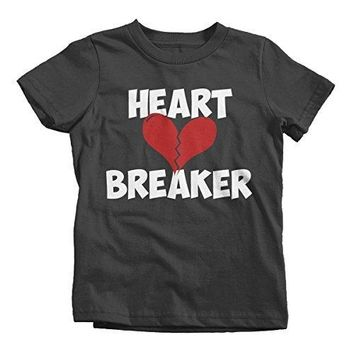 Shirts By Sarah Youth Heart Breaker Kids Funny Valentine's Day T-Shirt Boy's Girl's