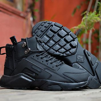 Huarache x Acronym City MID Leather Black Sneaker Shoes