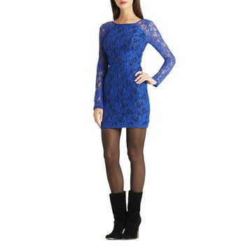 BCBGeneration Womens Evening Lace Overlay Cocktail Dress