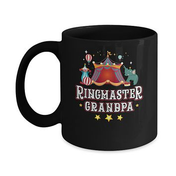 Ringmaster Grandpa Circus Carnival Children Party Mug