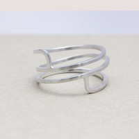 925 sterling silver Geometric stacking ring