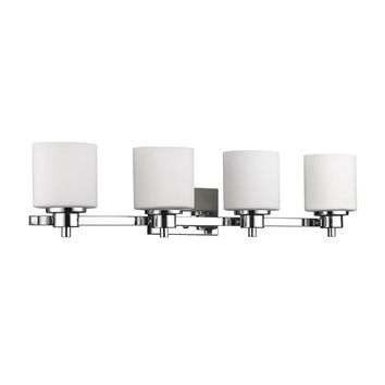 Oliver & James Koen Contemporary 4-light Chrome Bath/Vanity Light | Overstock.com Shopping - The Best Deals on Sconces & Vanities