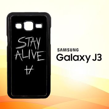 Twenty One Pilots Stay Alive X4419  Samsung Galaxy J3 Edition 2015 SM-J300 Case