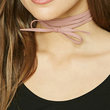 Layered Faux Leather Choker