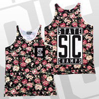 State Champs - Initials Pocket Tank Top