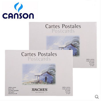 Freeshipping canson 100% cotton  watercolor paper set card watercolor DIY gift Postcard professional student 10P artlam