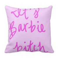 Pink Pillow Barbie Words