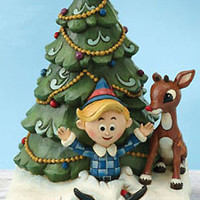 Jim Shore Rudolph & Hermey Figurine
