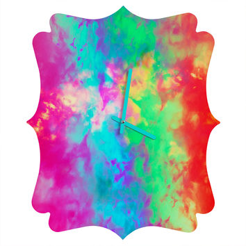 Caleb Troy Painted Clouds Vapors II Quatrefoil Clock