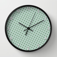 Mint Leaf Pattern Wall Clock by Peter Gross