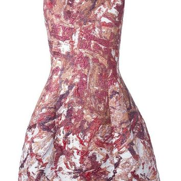 DCCKIN3 Prabal Gurung brocade flared dress