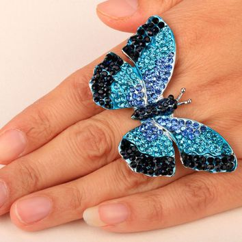 Butterfly Stretch Ring for women