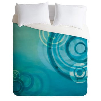 Stacey Schultz Circle World Blue Duvet Cover