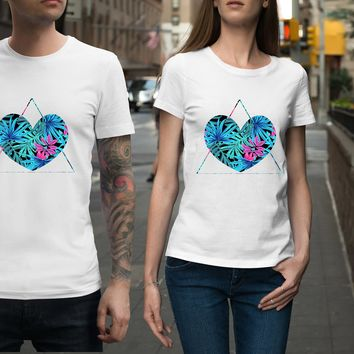 Tropical Lovers Triangle Unisex Shirt