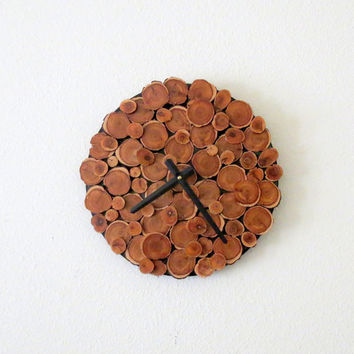 Wood Wall Clock, Decor and Housewares, Cedar Wall Clock, Reclaimed Wood, Home and Living, Home Decor, Rustic Home Decor, Homespunsociety