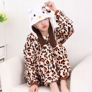 PEAPUG3 Sleepwear Animal Leopard Cartoons Set Halloween Costume [9220976580]