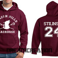 STILINSKI 24 Beacon Hills Lacrosse Wolf Teen Number 24 Unisex Hoodie - Tumblr Text - Part 2