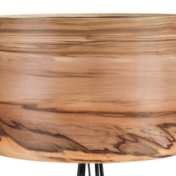 SVEN Design Floor Lamp - Natural Satin Walnut Shade - Home Interior Lighting Home Decor - Modern Meets Nature
