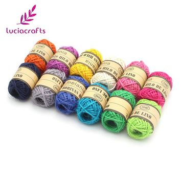 Lucia crafts 12rolls 2mm Hemp Cord Roll Jute Rope String DIY Tags Wraping Party Wedding Decor Gift Packaging Supplies 047005048