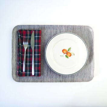 Fog Linen Work Napkin Red Blue Plaid