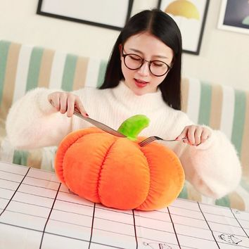Real life Plush Pumpkin Pillow  Kawaii Fruits Vegetable Stuffed baby Toys For kids friends soft Cushion Birthday Gift home decor