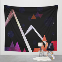 Space Mountain Wall Tapestry by DuckyB (Brandi)