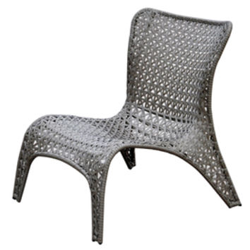 Shop Garden Treasures Tucker Bend Steel Woven-Seat Patio Chair at Lowes.com