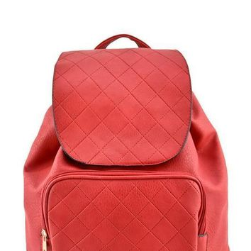 Red Blair Stitched Backpack