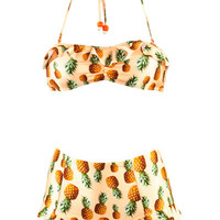 Big Pineapple Sand Frill Top