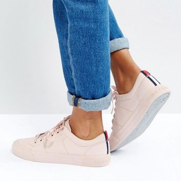 Tommy Hilfiger Canvas Sneaker with Ribbon Lace Detail at asos.com
