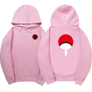 Naruto Girls Cotton Ninja Hokage Fashion Hoodie Pink