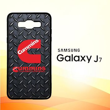 Cummins Turbo Diesel Logo Z3883 Samsung Galaxy J7 Edition 2015 SM-J700 Case