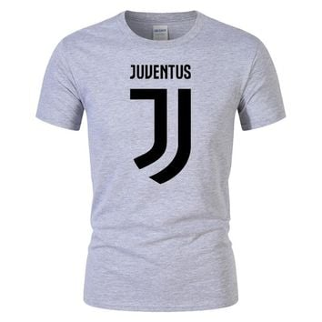 T Shirt Men'S Lastest 20168Fashion Short Sleeve Juventus Printed T-Shirt Funny Tee Shirts Hipster O-Neck Cool Tops