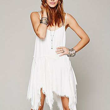 Free People Womens Tattered Up Shred Slip