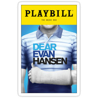 'Dear Evan Hansen Playbill' Sticker by StarrTechKiwi