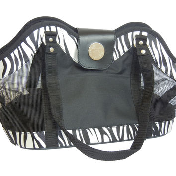 New York Dog Open Tote Pet Carrier Bag Zebra