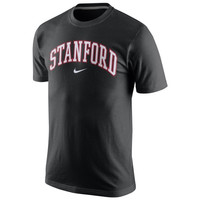 Nike Stanford Cardinal College Wordmark T-Shirt - Black